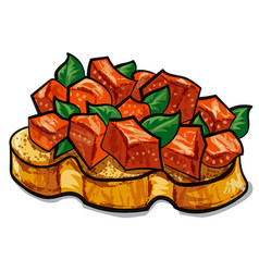 traditional italian bruschetta vector image