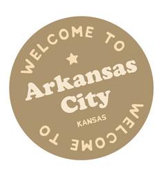 Welcome to arkansas city kansas vector