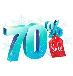 Winter Sale 70 Percent Off vector image