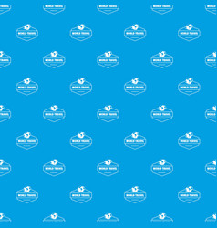 world travel pattern seamless blue vector image