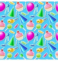 Happy Birthday seamless pattern vector image