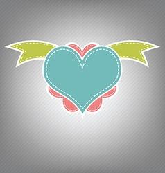 heart retro design vector image vector image