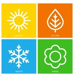 icons of seasons vector image vector image