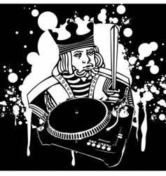 King dj graffiti vector