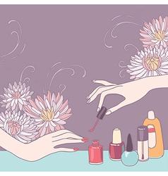 Nail art salon vector