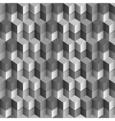 3d monochrome cubes background vector image vector image