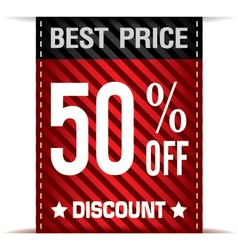 Best Price Banner and Discount on white background vector image