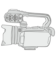 isolated video camera vector image vector image