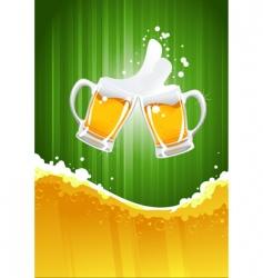 beer splashing vector image