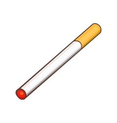 Cigarette icon cartoon style vector image vector image