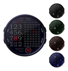 digital clocks vector image
