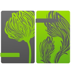 ecologically-themed floral green design vector image