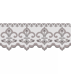 Lace pattern with classic floral ornaments vector image vector image