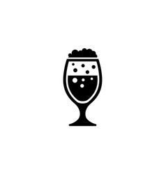 lager beer glass flat icon vector image