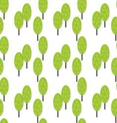 spring trees seamless pattern background vector image