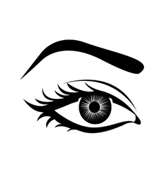 cartoon female eye icon image vector image