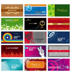 collection of horizontal business card vector image vector image