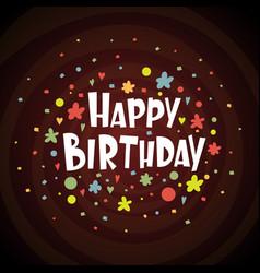 greeting card happy birthday vector image vector image