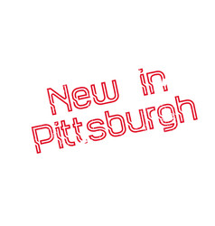 new in pittsburgh rubber stamp vector image vector image