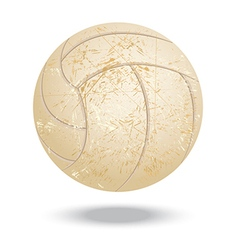 Volleyball-vintage vector