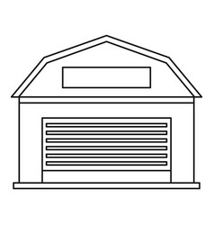 warehouse building icon outline style vector image vector image