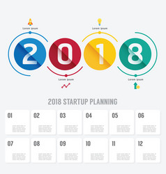 2018 business startup planning infographic vector image