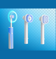 3d realistic electric toothbrushes vector image