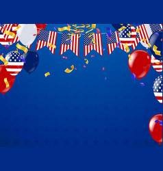4th of july happy independence day banner usa vector