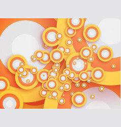 abstract retro circle wallpaper vector image