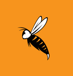 agressive bee or wasp mascot design template vector image