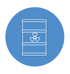 Atomic barrel isolated icon vector