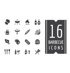 BBQ and Food Icons Set Outdoor Kitchen or vector image