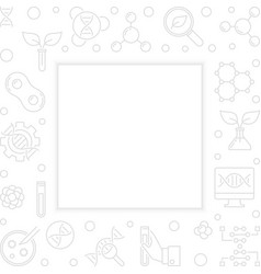 Biotechnolgy outline square frame vector
