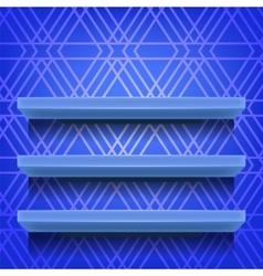Blue Empty Shelves vector