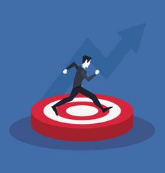businessman arrows success vector image