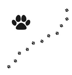 cats paw pet footprint flat icon isolated on vector image