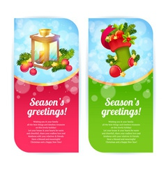 Christmas congratulation banners vector image