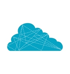 Cloud blue weather sky icon graphic vector