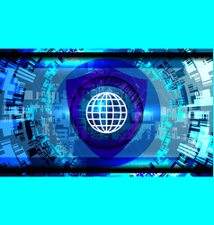 cyber security concept vector image vector image