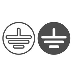Electrical grounding line and glyph icon electric vector