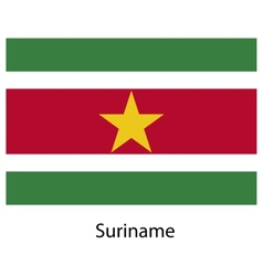 Flag of the country suriname vector image
