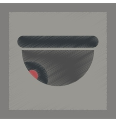 Flat shading style icon security camera vector