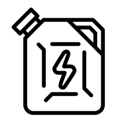 fuel canister icon outline style vector image