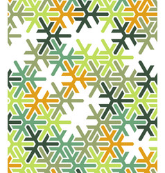 geometric green islamic pattern color vector image