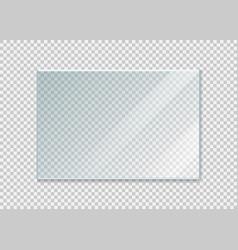glass windowisolated on white background vector image