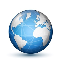 Glossy globe icon vector image