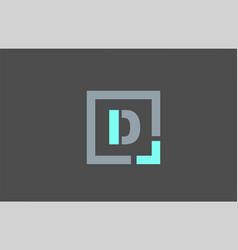 Grey letter d alphabet logo design icon for vector