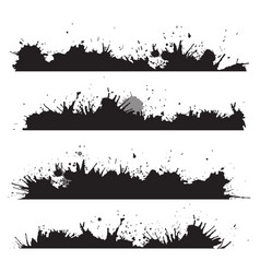 grunge border with splashes and drops to design vector image