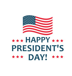 happy presidents day label united states federal vector image