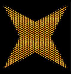 Hexagon halftone sparkle star icon vector